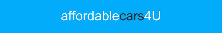 Affordable Cars 4 U Logo