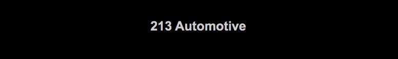 213 Automotive Logo